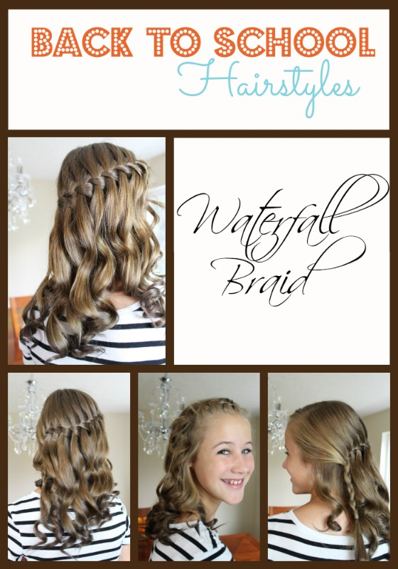Back to School Hairstyles - Waterfall Braid