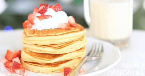 easy eggnog pancakes recipe