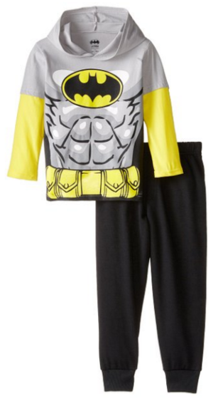 Warner Brothers Boys' Batman Hooded Top with Jogger Fleece Pant