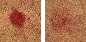Stain to test DIY carpet stain remover on
