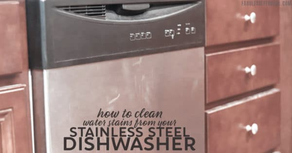 DIY clean hard water stains from stainless steel