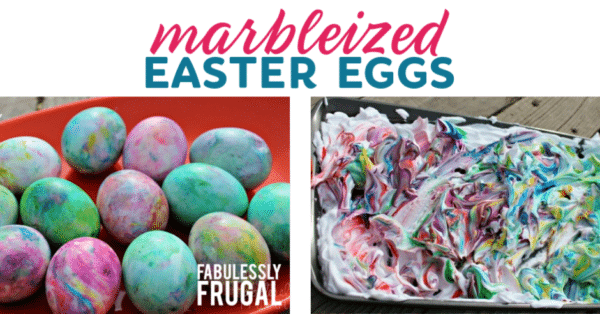 How to Make Marbleized Shaving Cream Easter Eggs