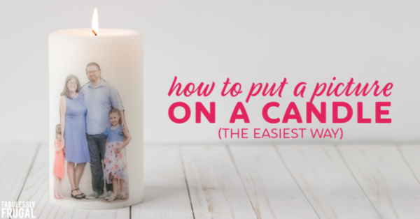 How to put a picture on a candle with wax paper
