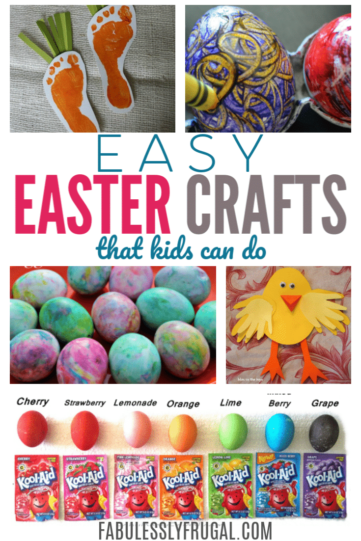 13 Easy Easter Crafts For Kids Paper Crafts And More Fabulessly