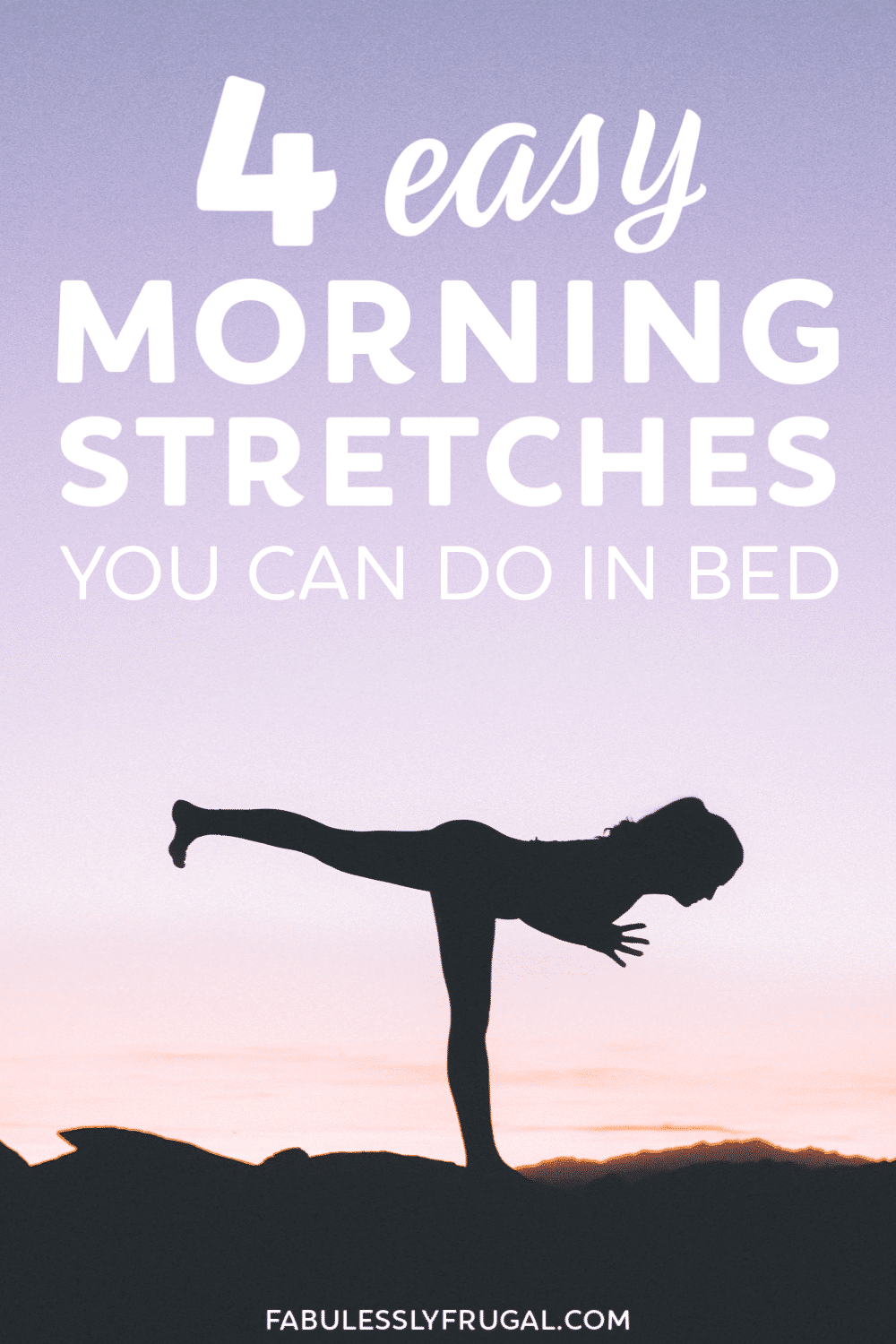 Morning stretches in bed
