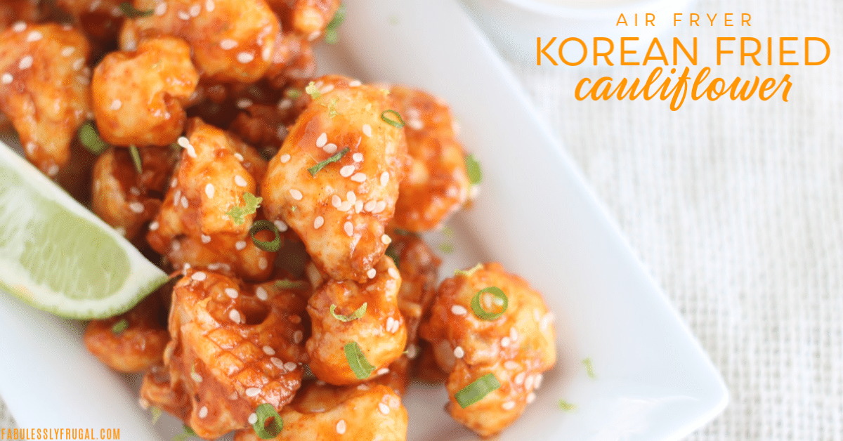 Korean air fried cauliflower