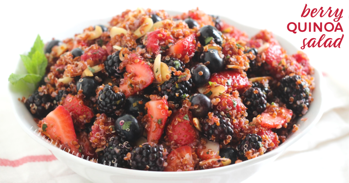 Bowl of quinoa and berries