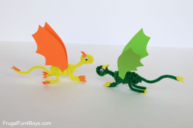 Green and yellow dragons