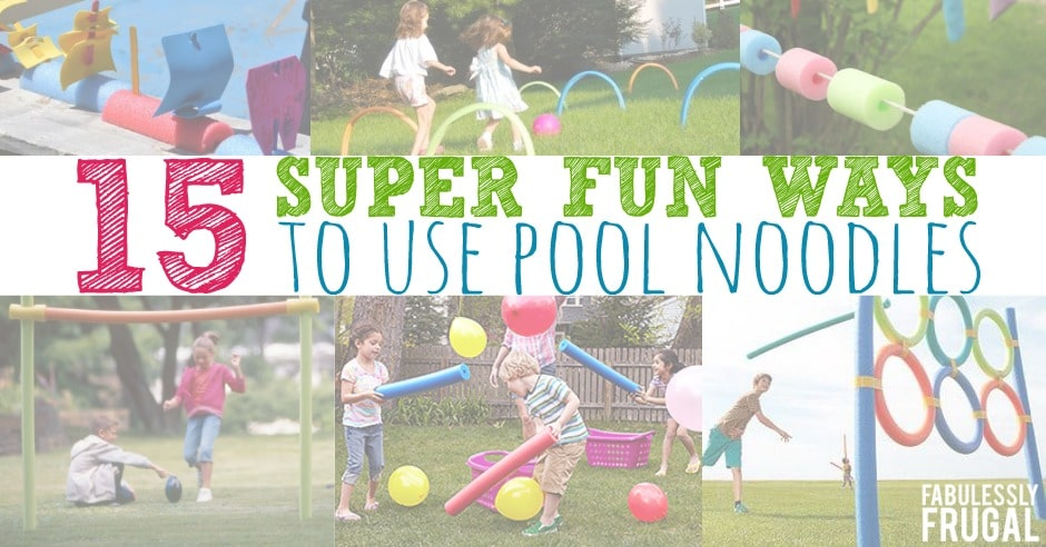 Pool noodle games post
