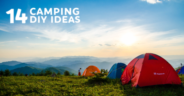 Camping tents in beautiful area