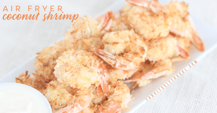 air fryer coconut shrimp with pina colada sauce