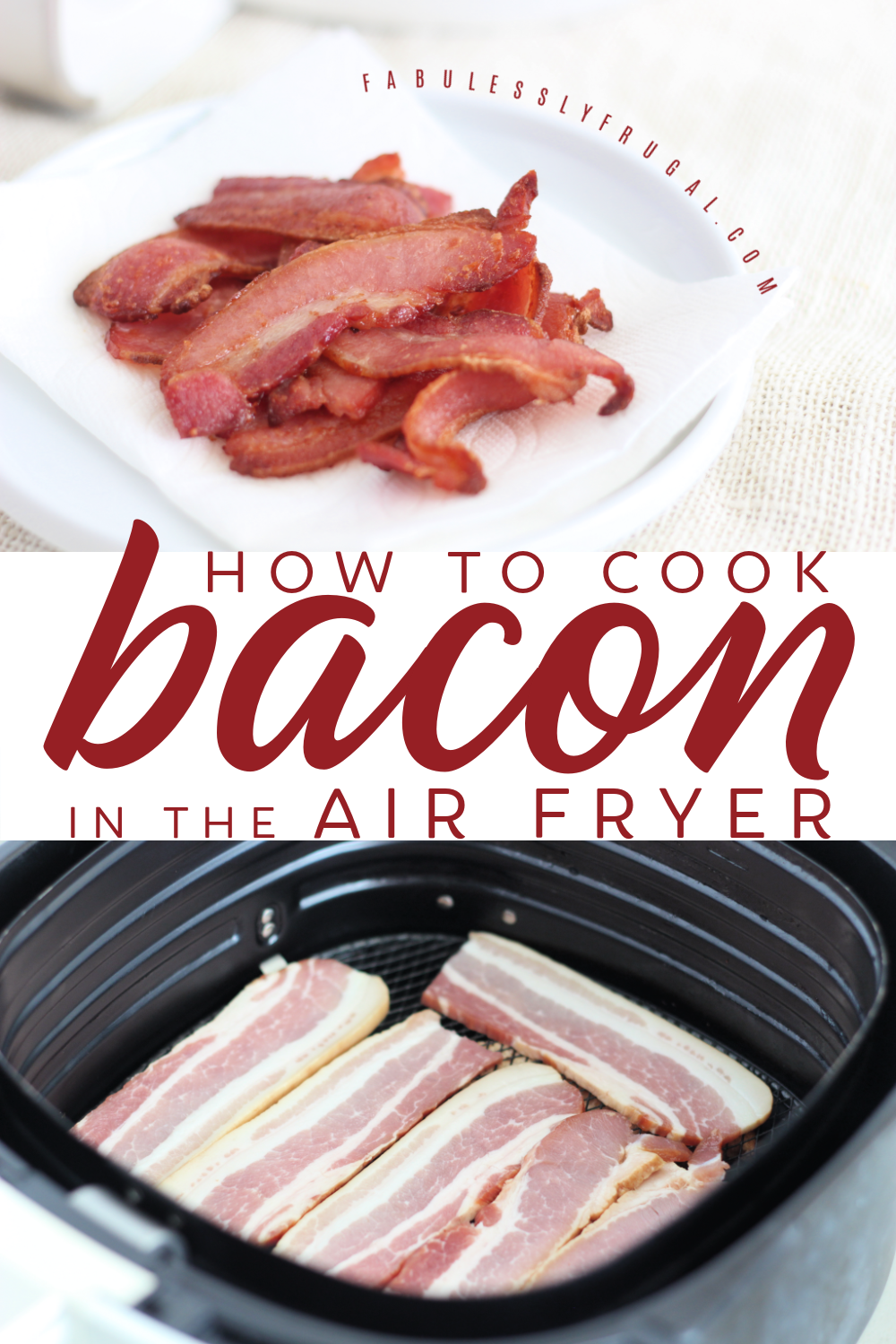 cooking bacon in an air fryer