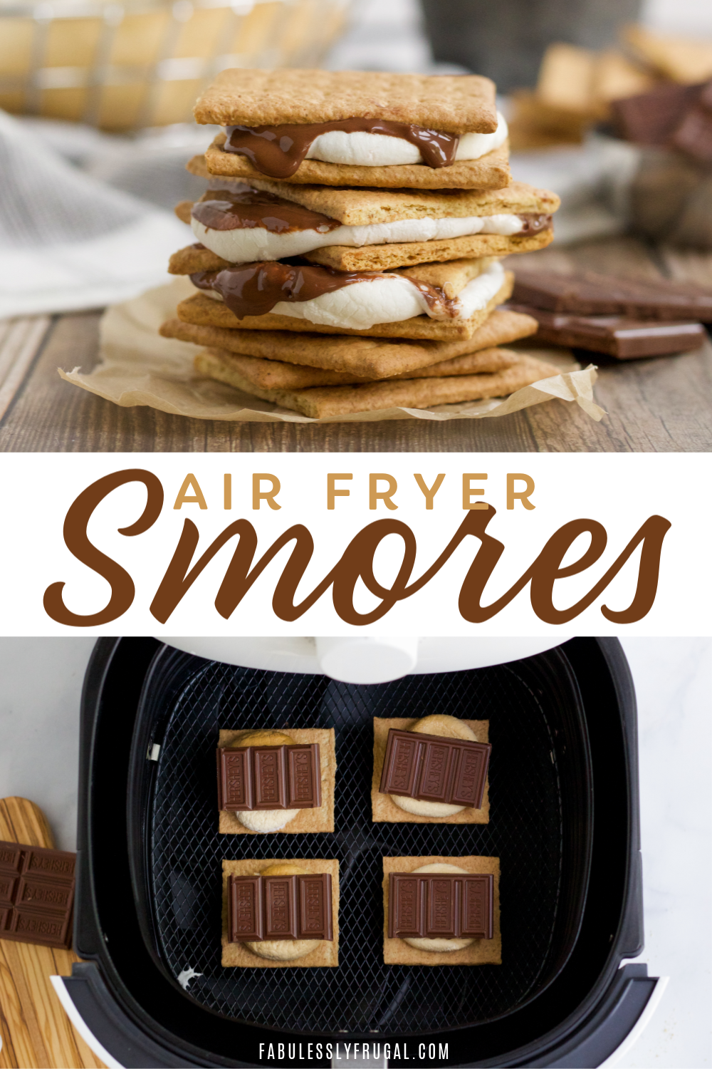 How to make s'mores in an air fryer