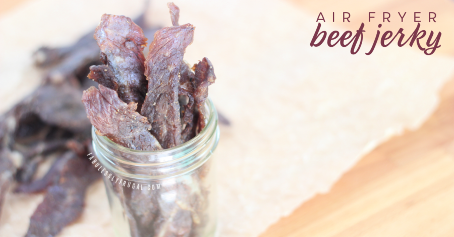 homemade beef jerky in the air fryer