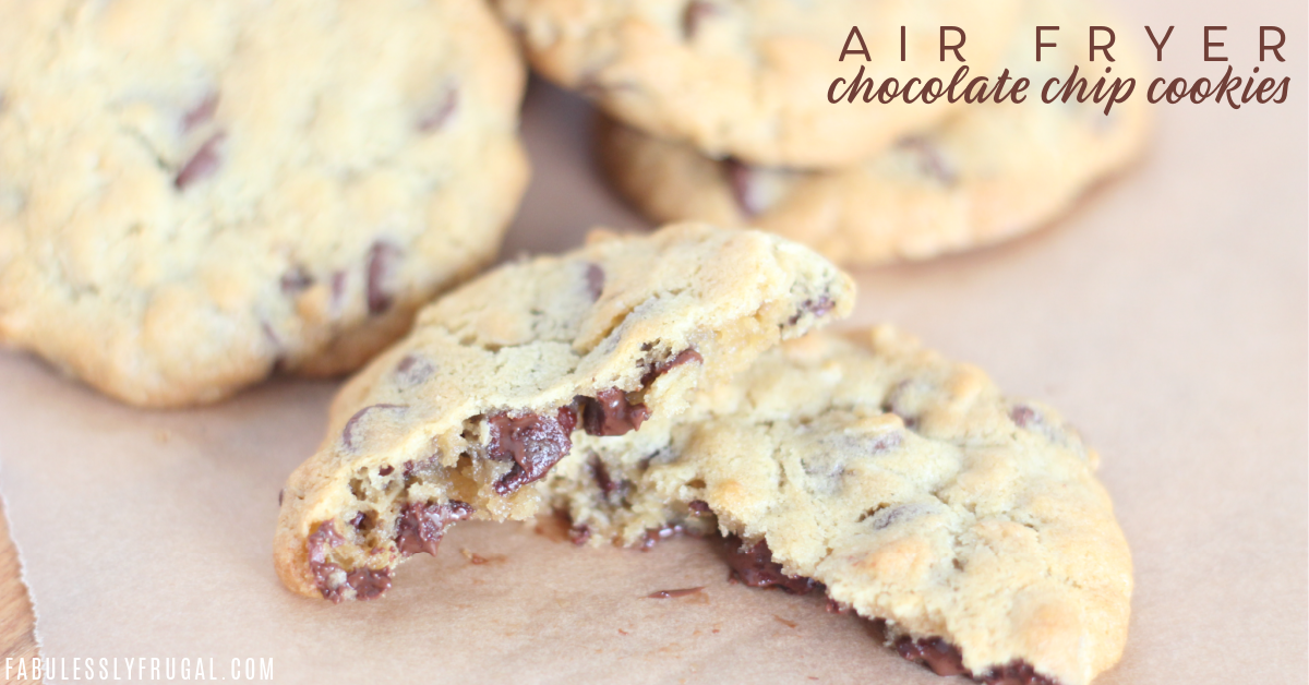 the best air fryer chocolate chip cookies